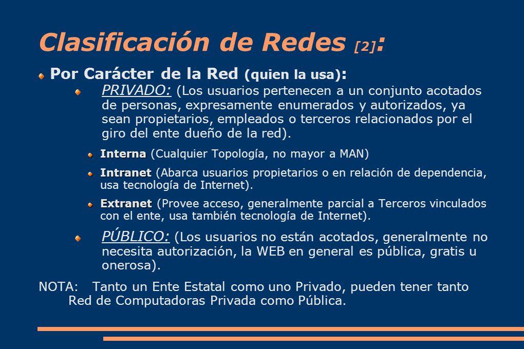 Clasificación de Redes [2]: